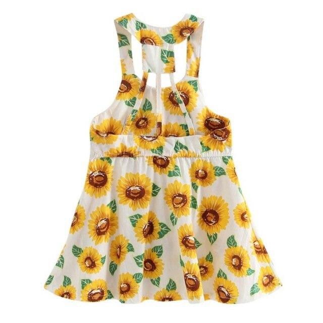 New Baby Dress Girls Clothes Knee Length Sleeveless Bow Cute Slip