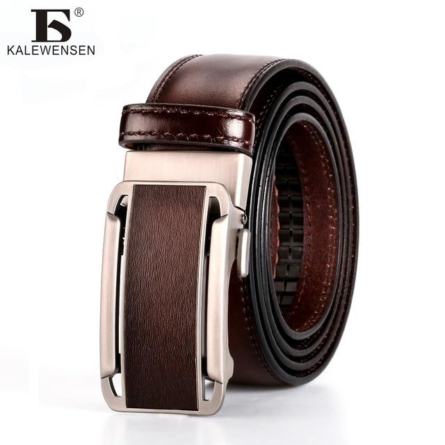 Cinturón de marca famosa hombres 100% buena calidad Cowskin automático de  los hombres de cuero b4048c1523c7