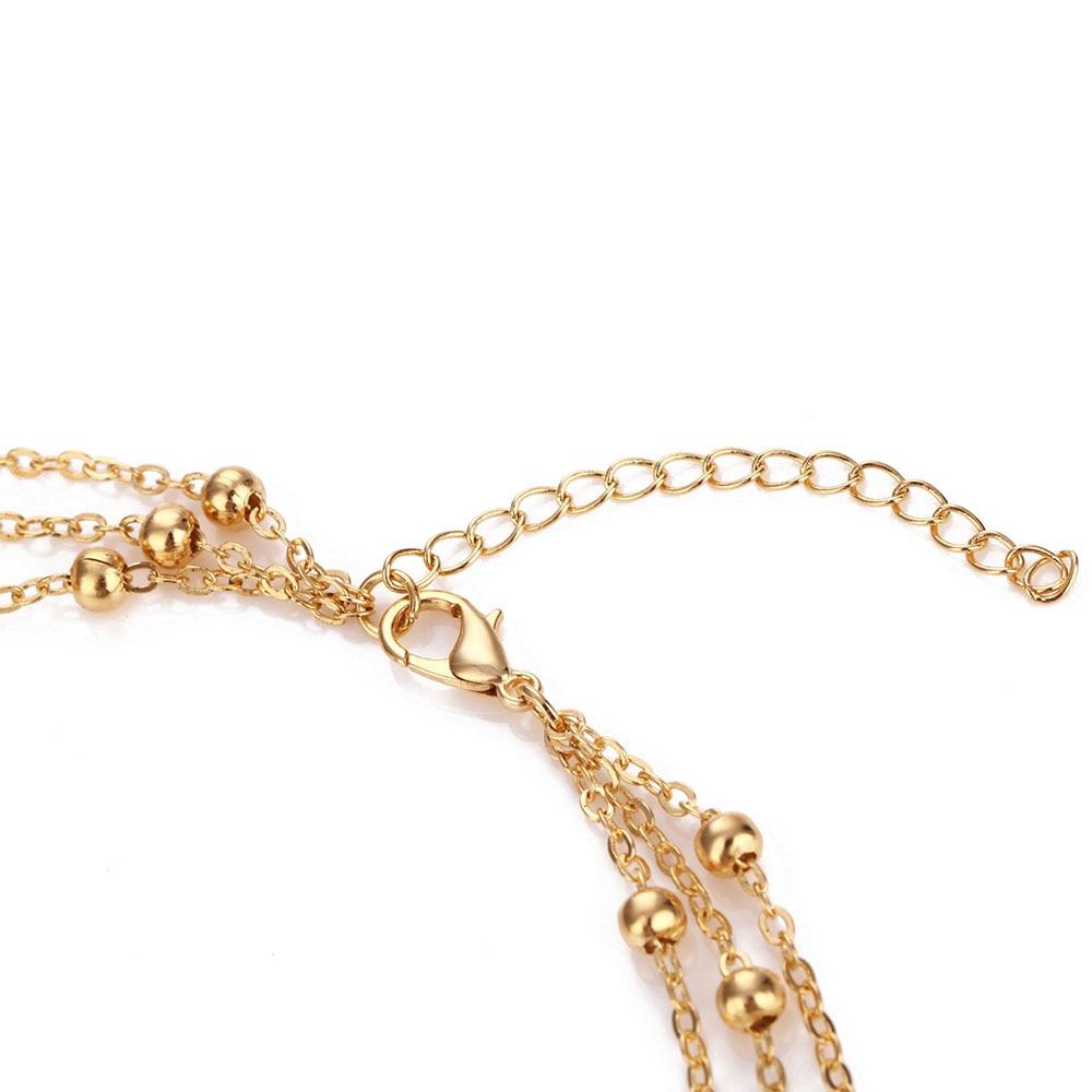 KISSWIFE Трендовое винтажное многослойное колье с круглыми бусинами, ожерелье с подвеской для женщин, девушек, бохо, ювелирные изделия ручной работы
