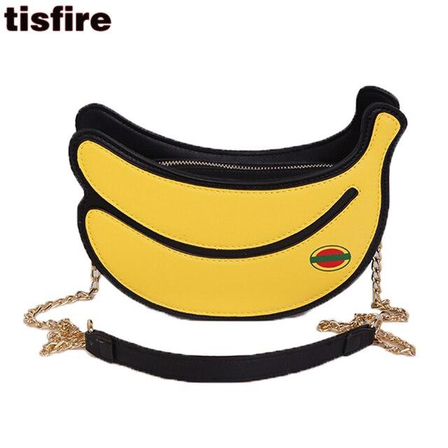 Banana Bag Fashion Cute Shaped Crossbody Bags For Women 2017 Summer Tropical Chain Shoulder Creative