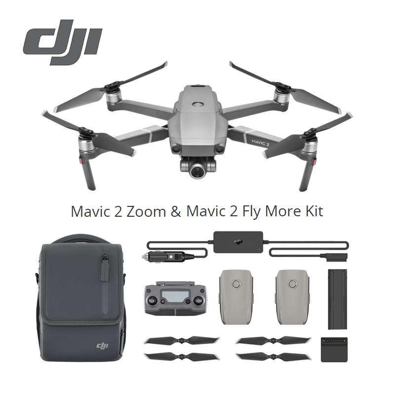 DJI Mavic 2 Zoom Fly More Kit Multiple Batteries for a longer flight versatile