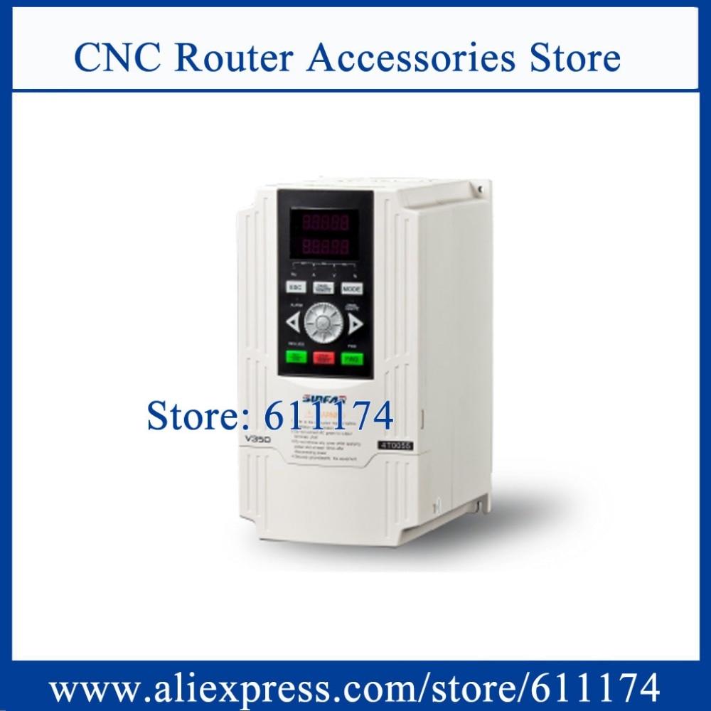 Wysokiej częstotliwości 1000hz zamknięta pętla falownik VFD V350-2S0011 przemiennik częstotliwości 1.1KW AC220V CNC spawarka inwerter