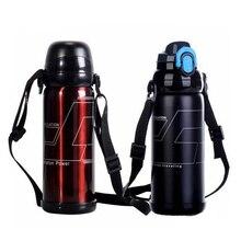 Edelstahl Thermosflasche 800 ML Edelstahl Thermos Multifunktionale Sport Saugnapf bergsteigen reisekolben