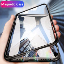 Luxury Magnetic Phone Case On The For iPhone 6 6s 7 8 Plus X XR XS Max Shockproof Cover For IPhone X XS MAX XR PC Hard Back Case(China)