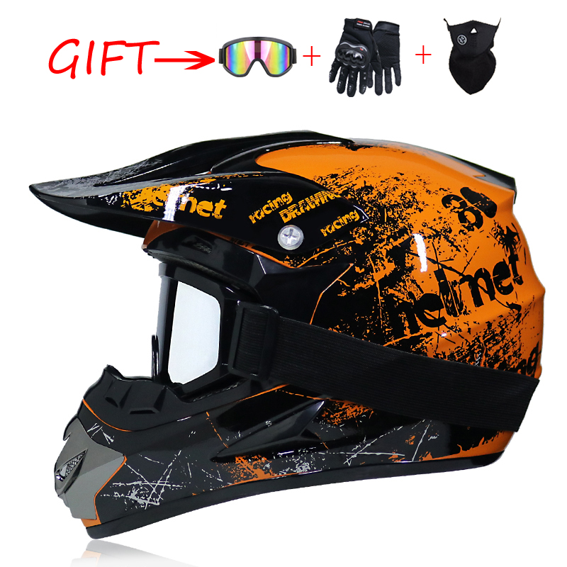Professionelle leichte off-road motorrad helm racing bike kinder ATV off-road fahrzeug downhill DH kreuz helm