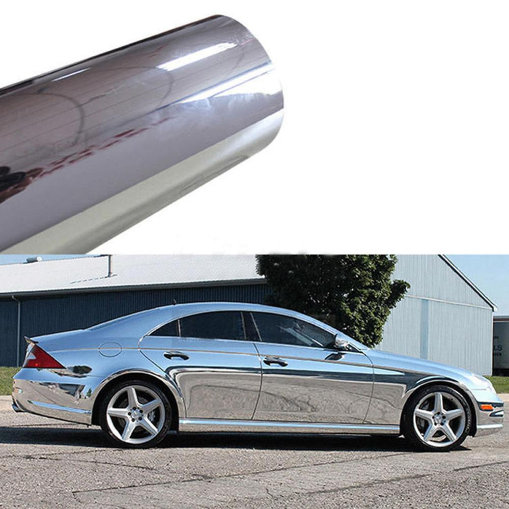 10pcs Wholesale Price 6*60inch Silver Car Auto Body Sticker Chrome Vinyl Waterproof for the Whole Outside