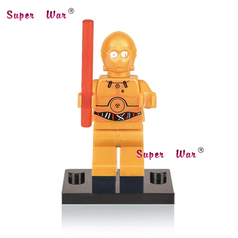 1PCS star wars superhero marvel avengers C-3PO building blocks action sets model bricks toys for children
