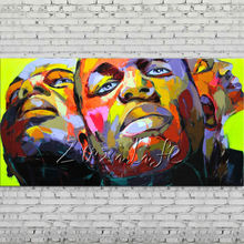 Palette knife portrait Face Oil painting Character figure canva Hand painted Francoise Nielly Art picture  room02