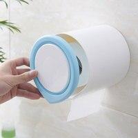 Plastik Ev Banyo Doku Kutusu Klozet Kağıt Rulo Tutucu Emme Duvar Monteli Mutfak Doku Durumda Konteyner Aksesuarları