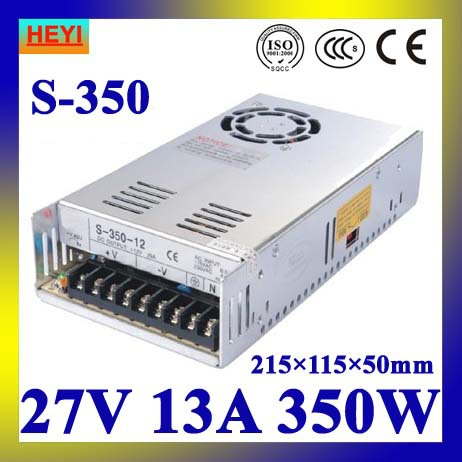 LED power supply  27V 13A 100~120V/200~240V AC input single output switching power supply 350W 27V transformer led power supply 27v 13a 100 120v 200 240v ac input single output switching power supply 350w 27v transformer