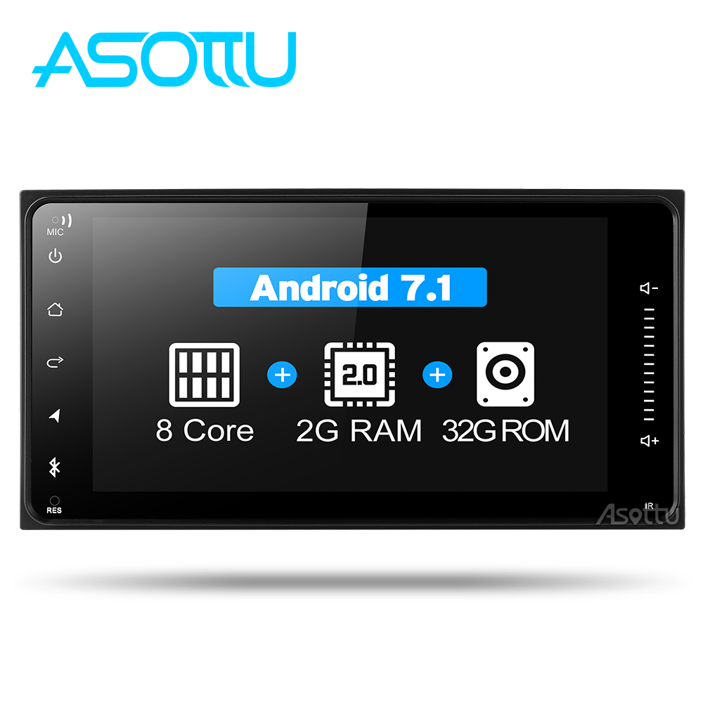 Asottu CHG7060 8 core android 7.1.2 car dvd gps navigation for Toyota Avalon AVanza Celica camry corolla car radio video player