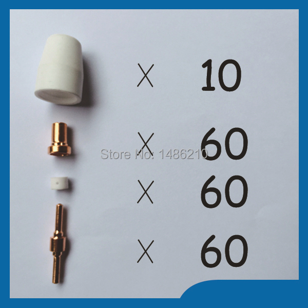 PT31 LG40 Plasma Cutting Cutter Torch Consumables Extended Nozzle TIPs Fit CUT40 CUT50D CT312, 190PK [randomtext category=