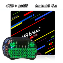 RUIJIE H96 MAX Plus Tv Box Android 8.1 Rockchip RK3328 Quad Core 4GB RAM 32GB ROM Smart Tv 2.4G Wifi H.265 4K H96 MAX +