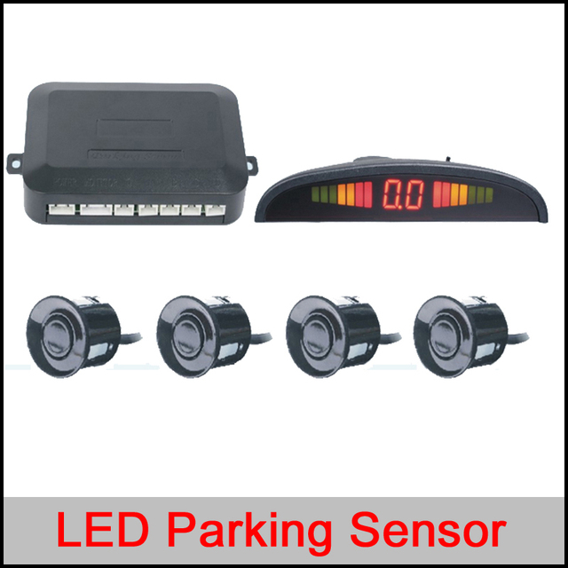 Car LED Parking Sensor Kit Display 4 Sensors 22mm 12V for all cars Reverse Assistance Backup Radar Monitor System Free Shipping