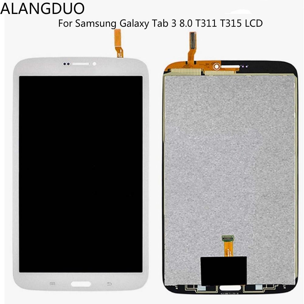 Prix pour ALANGDUO Pour Samsung Galaxy Tab 3 8.0 T311 T315 LCD Full Panneau D'affichage + Écran Tactile Digitizer Assemblée Verre De Réparation de Remplacement