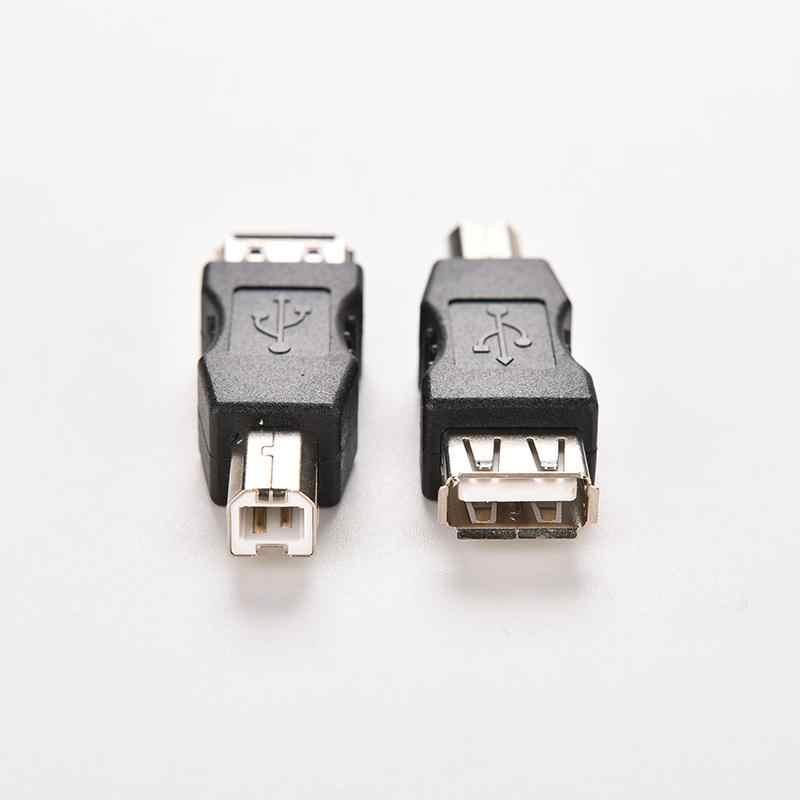 1 PC Baru USB 2.0 Tipe A Perempuan USB Tipe B Pria Converter Adapter USB Print Kabel Conector Changer