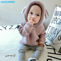Baby Children Sweater Clothing Cotton Hooded Knitted Cardigan Pullover Kids Spring Autumn Winter Infant Boys Girls