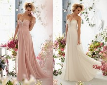 free shipping 2013 New Long Strapless Sweetheart Chiffon Prom Dress Ball Gown Party Evening