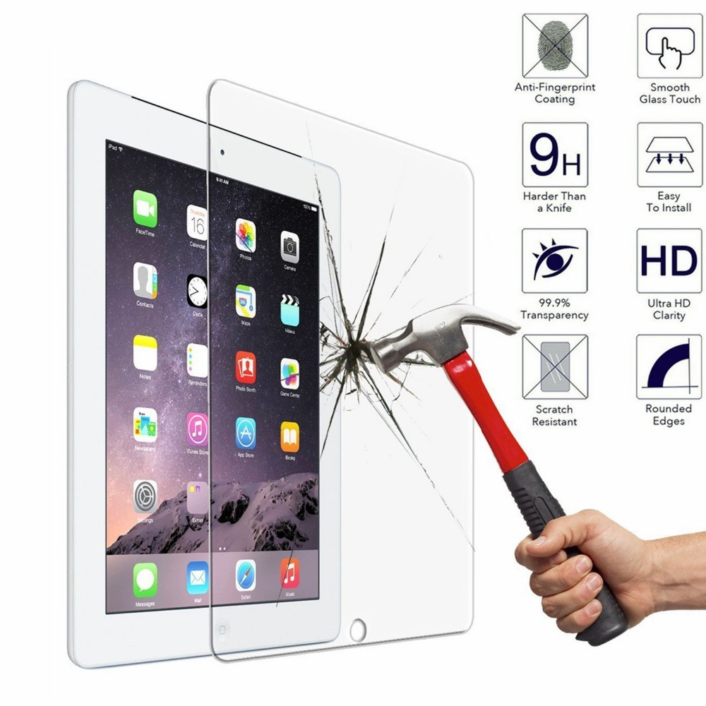 "10pcs 2.5D Explosion-Proof Toughened Tempered Glass For Apple iPad 2/3/4 9.7"" Tablet PC Film HD Clear Screen Protect Cover Guard"