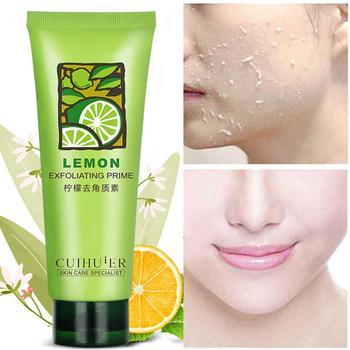 Emporiaz Face Exfoliating Gel Lemon Scrub Gel Facial Scrubs & Polishes