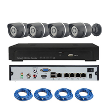 POE camera 4ch CCTV System 720p POE ip camera with poe nvr 4ch cctv kit Security camera 4ch cctv System free shipping
