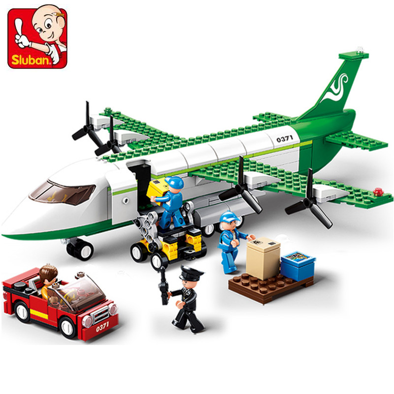 383Pcs Air Plane Freighter Bricks LegoINGLY City Aviation Aircraft Airplane Building Blocks Sets