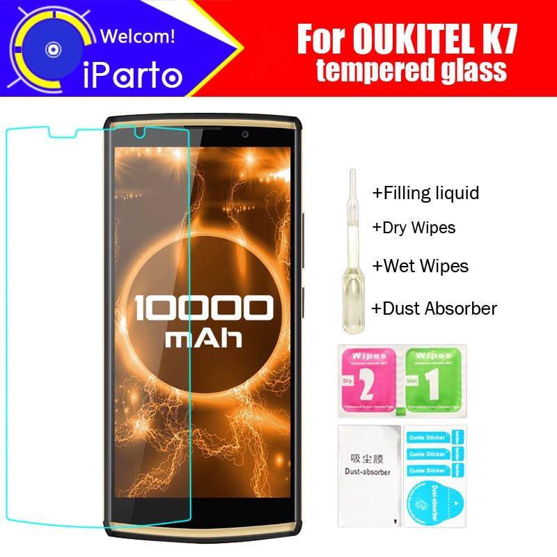 OUKITEL K7 Tempered Glass 100% Original Premium 9H 2.5D Screen Protector Film For OUKITEL K7 Phone (Not Full Cover)