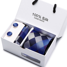 New High Quality Men's Ties Gravatas Tie Set Ties for Men Striped Neckties with Gift Box Packing