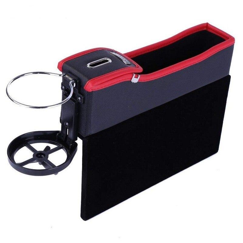 Siège de voiture Gap Boîte De Stockage Rétractable Mode Support Pour Les Boissons Racks Mobile Téléphones Cigarettes D'affaires Cartes Clés De Voiture Porte-Gobelet