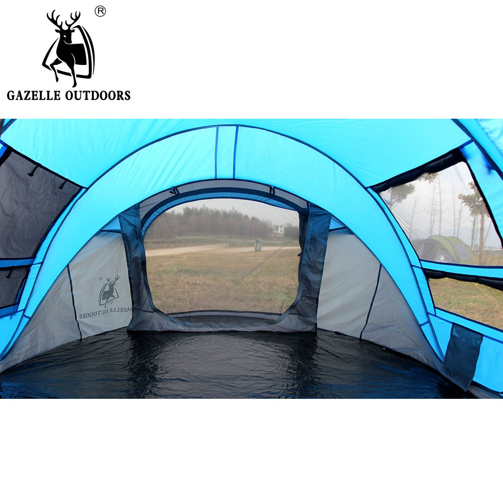 Pop up tent outdoor 3 4 persons automatic speed open throwing pop up windproof waterproof beach camping tent large space