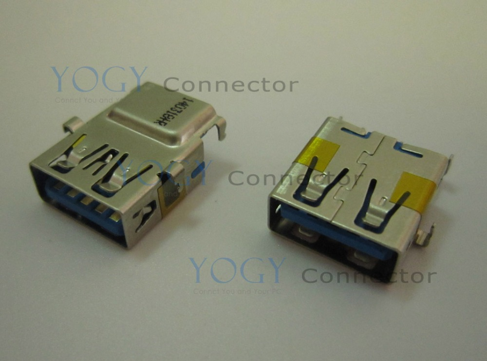 10pcs USB 3.0 Jack fit for dell M421R, Lenovo G580 Ideapad 500 80K4 Series and other laptop motherboard Female usb3.0 connector