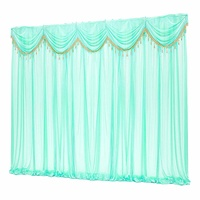 Wedding Party Backdrop Curtain Background Decor Silk Hanging Sheer Drape Cloth Removable Swags DIY Events Decorations 3X3M