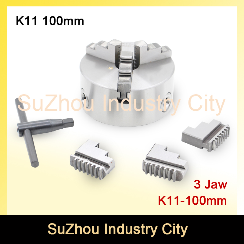 CNC 4th axis A axis 100mm 3 jaw Chuck self-centering manual chuck K11 fourth jaw for CNC Engraving Milling machine Lathe Machine