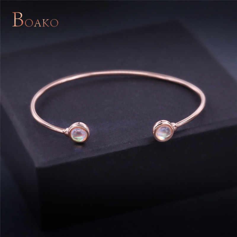Подвески из розового золота Цвет с украшением в виде кристаллов незамкнутные браслеты для Для женщин классический кубического циркония манжеты Браслеты любовь девушка украшен Z9