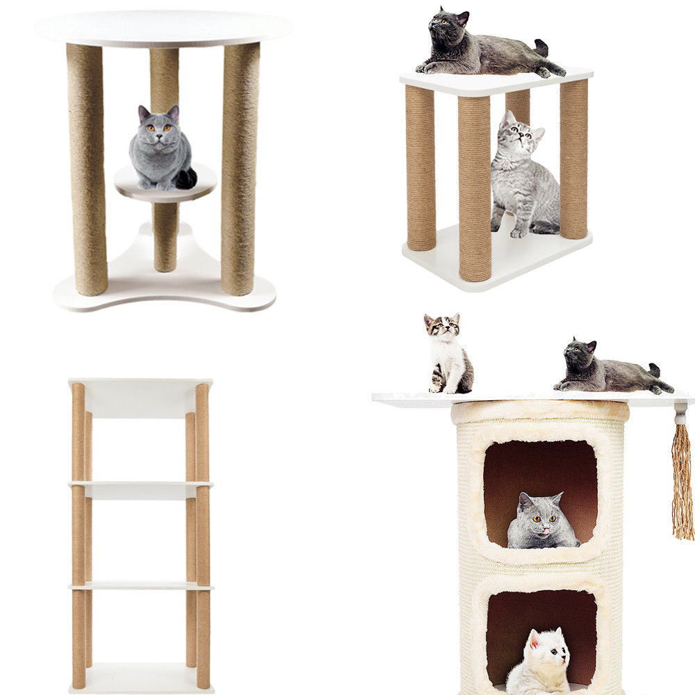 Kitten Scratcher Story Kid Cat Tree Post Scratchers Furniture House And Bookshelf Rack Desk Only