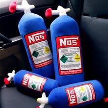 Garrafa de óxido nitro turbo jdm, brinquedo de pelúcia macio, almofada para presente e decoração de carro, encosto para cabeça descanso