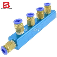 8mm Air Pneumatic Hose Tube Push In Fitting Manifold Quick Fittings