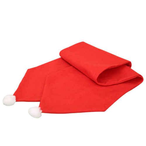 34X176CM camino de mesa navideño Mat mantel Navidad bandera hogar fiesta decoración caminos de mesa rojos