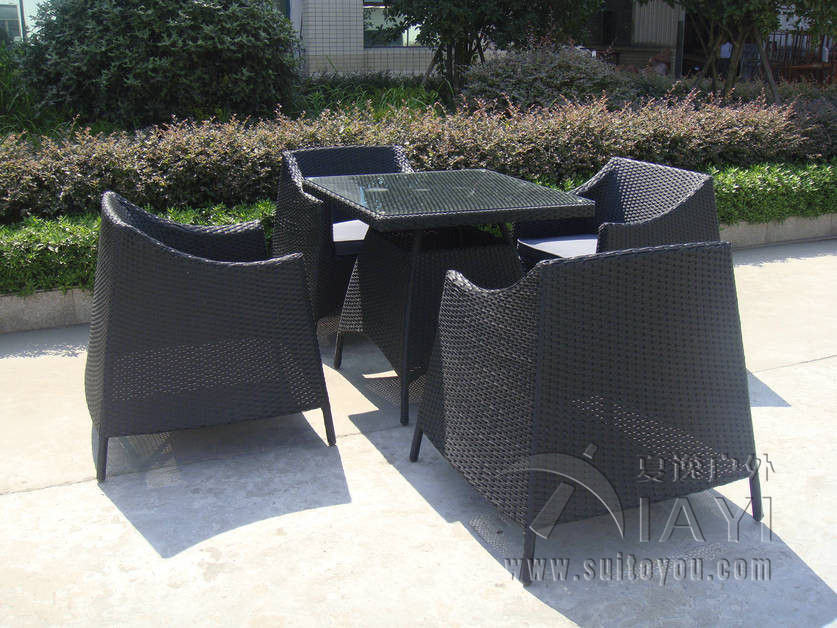 5 pcs wicker Dining Set , UV Resistant KD Rattan Furniture Sets transport by sea