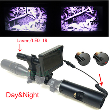 ФОТО newest outdoor hunting optical sight 4-16x40aomc tactical digital infrared night vision laser sight use in day or dark night