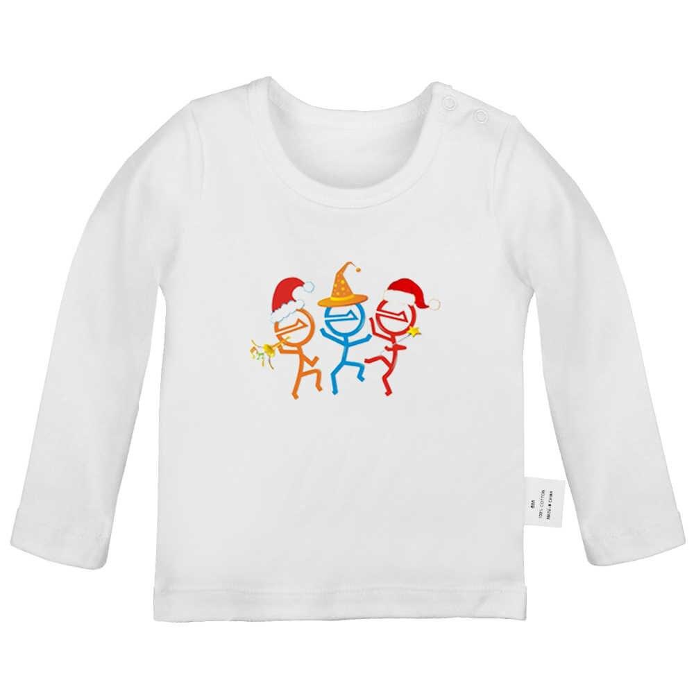 Рождественский злодей танцы скрипка Жемчуг дракона Гоку время приключений розовый новорожденных Футболки для малышей Графический длинный рукав футболки