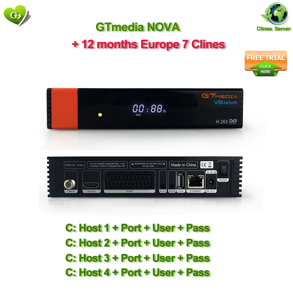 Freesat GTmedia V8 Nova récepteur satellite FTA DVB-S2 1080 p Full HD 3g IPTV Récepteur Satellite Europe clines intégré wifi