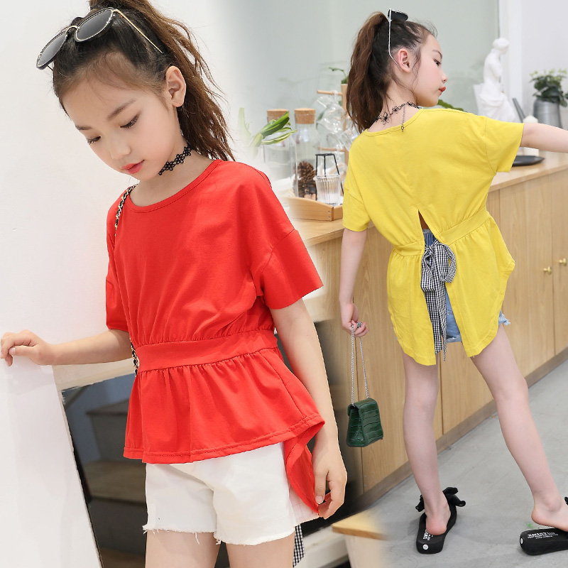 T Shirt For Children Clothing Cotton Summer 2018 Tshirts For Girls Kids Clothes Tops Tees Tshirts Vetement Enfant Fille Camiseta
