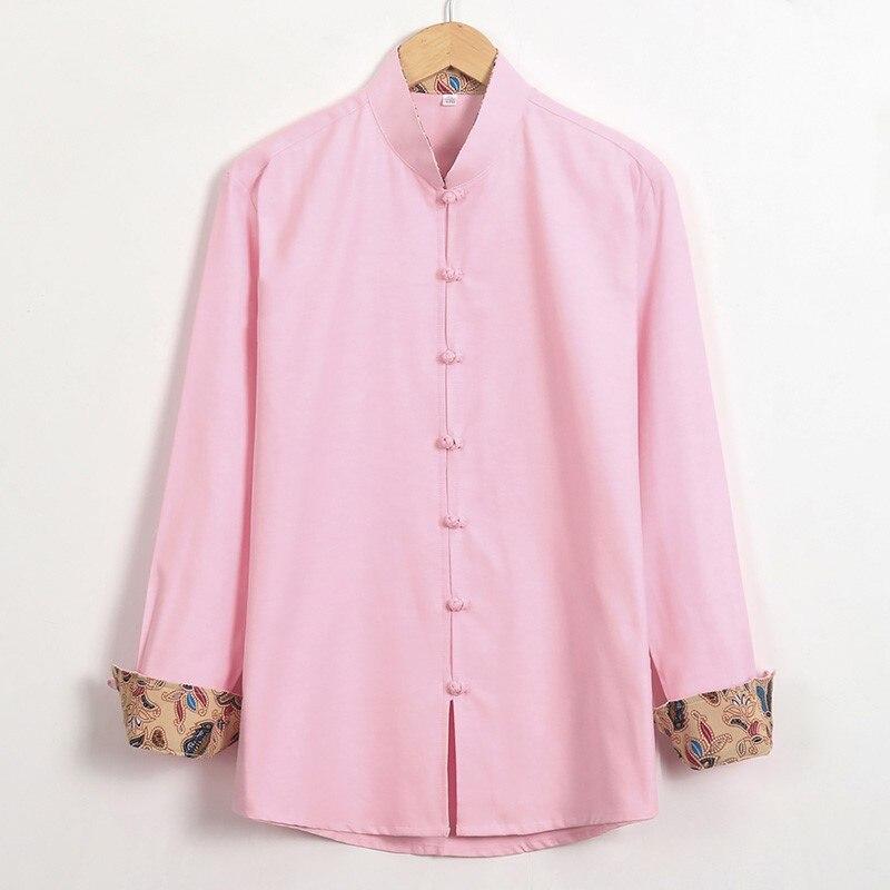 Nouveau Shao Lin Tai Chi chemise automne 100% coton Mandarin col Kung Fu vêtements chinois bouton unique vêtement grande taille 3XL 4XL