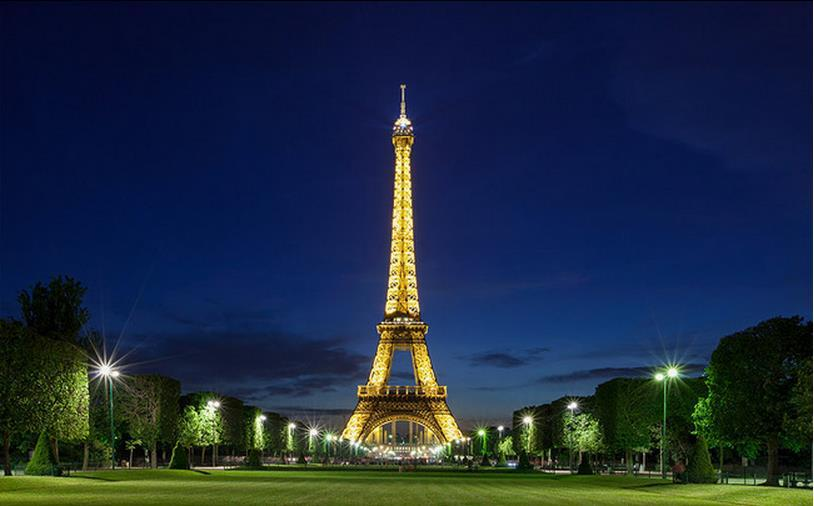 Modern 3d Wall Murals Wallpaper , Photo HD Eiffel Tower At Night Mural Tv  Sofa Background Wall Papel De Parede In Wallpapers From Home Improvement On  ... Part 86