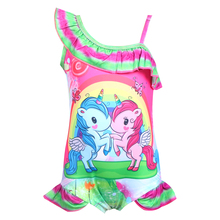 2019 New Toddler Unicorn children swim for girl one piece baby girls unicorn kid bathing suit swimming costume 0372