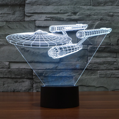 Hot NEW 7color changing 3D Bulbing Light Star Trek  illusion LED lamp creative action figure toy Christmas gift 8072 toronto blue jays baseball cap hat 3d led lamp atmosphere lamp 7 color changing visual illusion led decor lamp