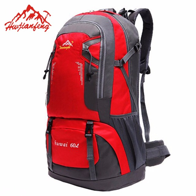 abae0dcf7355 US $24.73 21% OFF|HWJIANFENG 60L Hiking Camping Backpack Waterproof Oxford  Outdoor Wear resisting Bag Camping Backpack Hiking-in Climbing Bags from ...