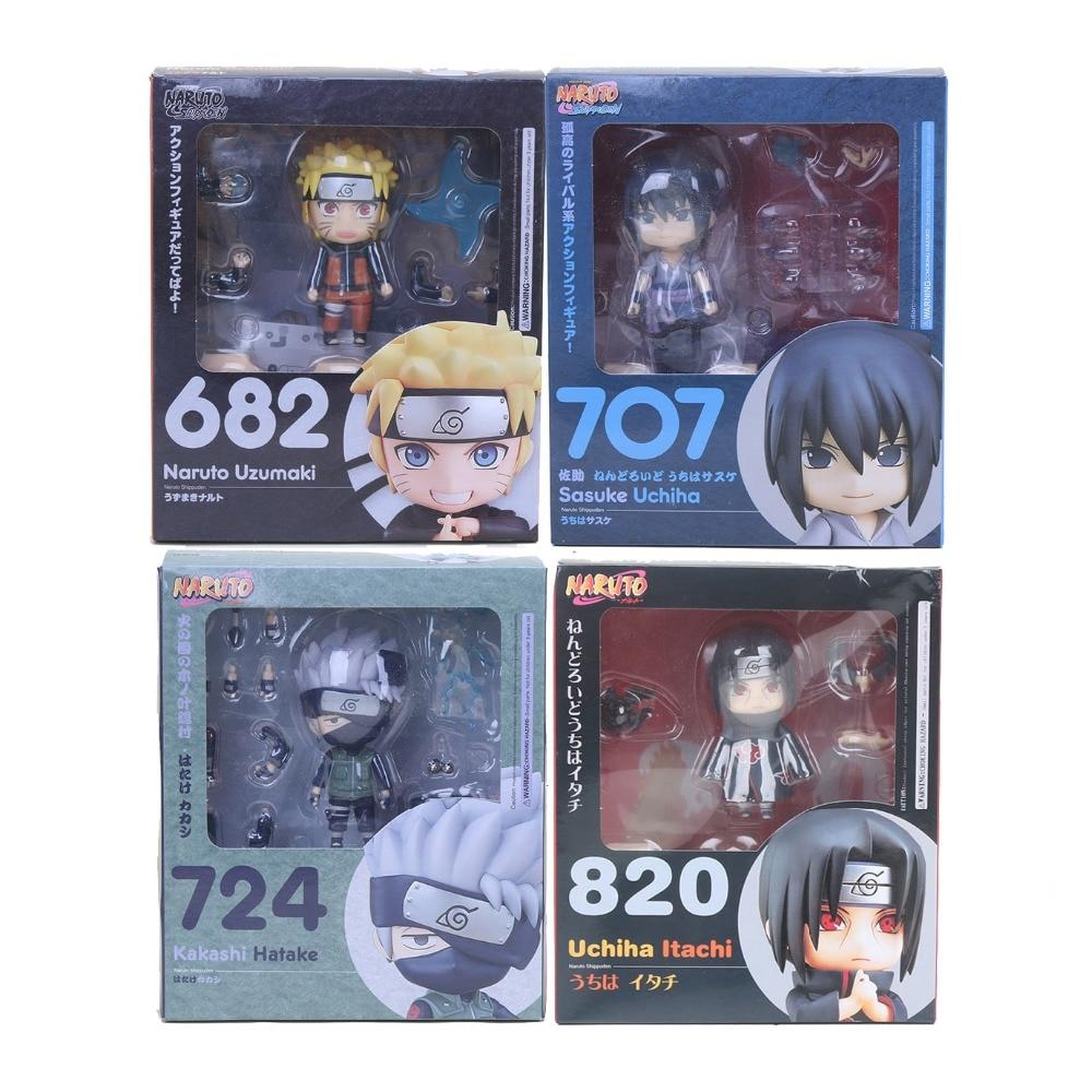11 87 5 De Réduction Nendoroid Naruto Shippuden Kurama Kyuubi Naruto 682 Sasuke Uchiha 707 Hatake Kakashi 724 Dessin Animé Jouet Figurine In Action