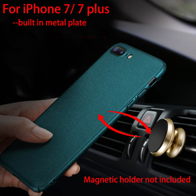 sports shoes e4566 09ec0 US $6.99 30% OFF|Aixuan For iPhone 7 Case Original Car Holder Magnetic Case  For iPhone 8 7 Plus Plastic Metal Plate Protect Cover + Screen film-in ...